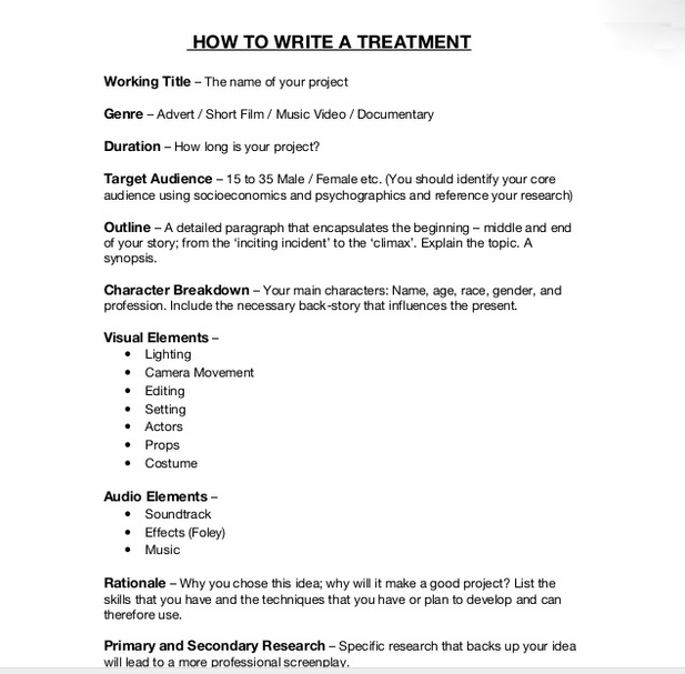 writing a film treatment pdf editor